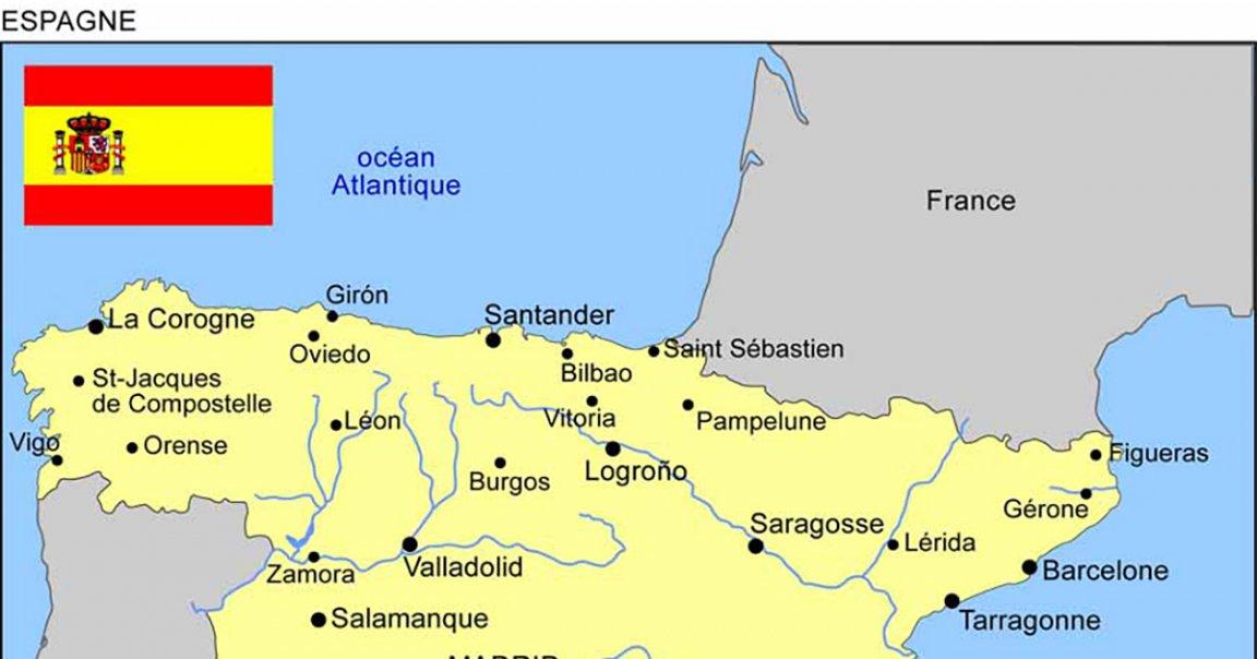 Carte Espagne Plan