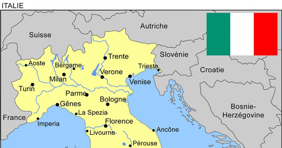 Carte Italie Plan