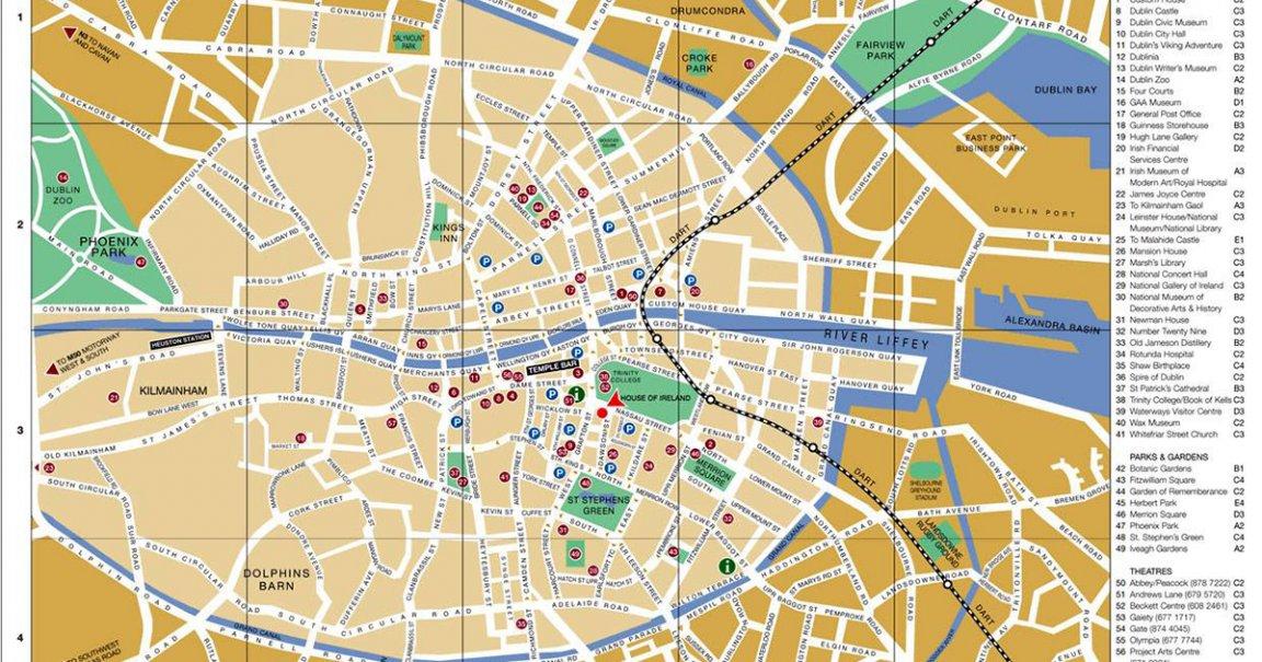 Carte Dublin Plan