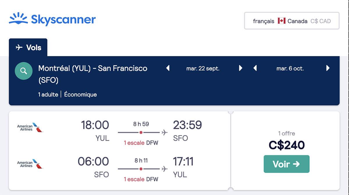 *Ouest américain* Vols vers San Francisco pour ~240$ (57% de rabais)